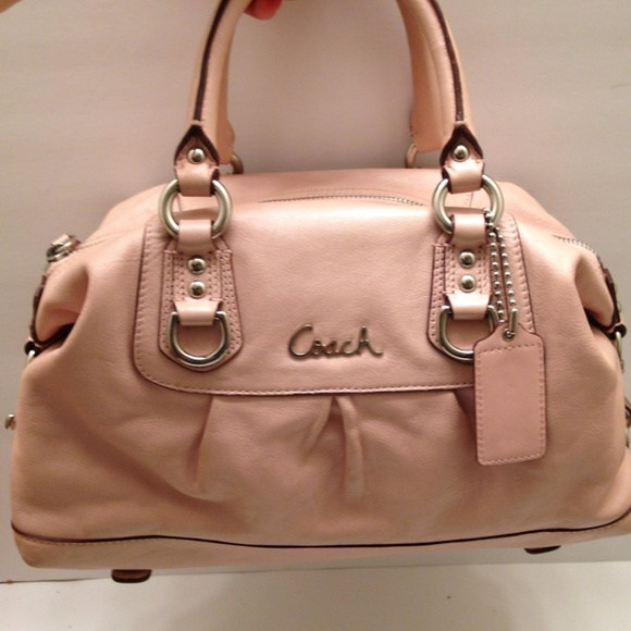 Coach Handbags - COACH ASHLEY PEAL PINK CARRYALL TOTE SATCHEL